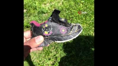Kayıp Nurcan'ın ayakkabısı dere kenarında bulundu