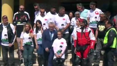 yerel yonetim -  Motosiklet Kulubü üyeleri Samsun'a uğurlandı