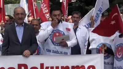 basin aciklamasi - Sağlık çalışanlarından basın açıklaması - İSTANBUL