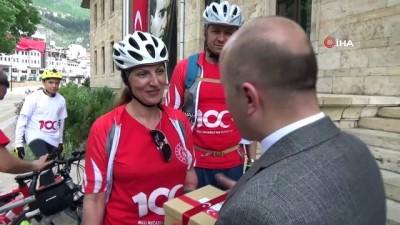 bisiklet -  Selanik'ten gelen bayrak ve toprak Amasya'ya ulaştı