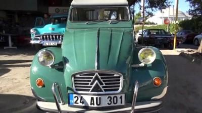 klasik otomobil -  Ülkenin dört bir yanından topladığı hurda klasik araçları baştan yapıyor