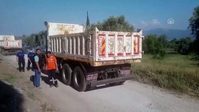 Aydın'da JES kurmak için izinsiz boru döşendiği iddiası - AYDIN