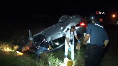 cenaze arabasi -  Defalarca takla atan otomobilden fırlayan kadın hayatını kaybetti