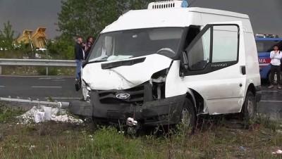 Minibüsle otomobil çarpıştı: 2 ölü, 2 yaralı - TEKİRDAĞ