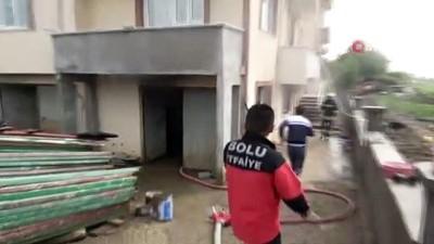 Bolu'da, apartman deposunda yangın