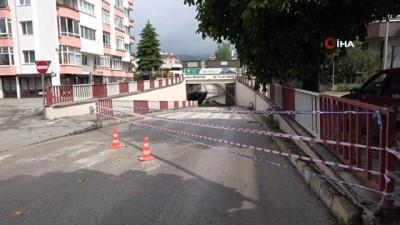 Bolu'da sağanak nedeniyle alt geçitler trafiğe kapatıldı