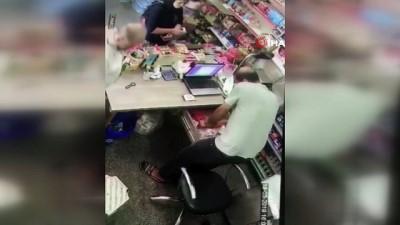 Mersin'de 'tırnakçılık' yöntemiyle hırsızlık kamerada
