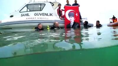 rekor - Şahika Ercümen ve sualtı ekipleri Milli Mücadele'nin 100. yılını dalış yaparak kutladı - SAMSUN