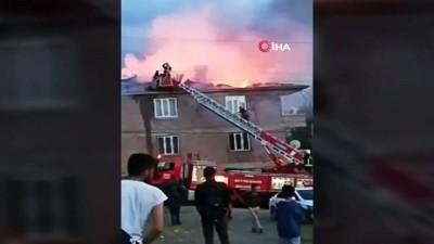 yangina mudahale -  Van'da iftar vakti çıkan çatı yangını korkuttu