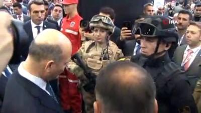 İçişleri Bakanı Süleyman Soylu, IDEF'19 fuarını gezdi