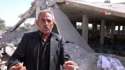 sivil savunma -  - Rus Uçaklarının Bombardımanı İdlib'te Bir Aileyi Yok Etti