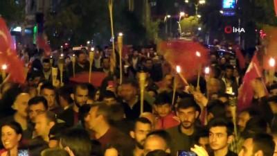 Ardahan'da binler 19 Mayıs'ta meş'alelerle yürüdü