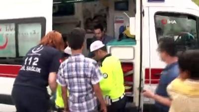 hastane -  E5'te art arda iki kaza trafiği felç etti