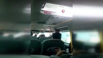 Minibüste dehşet anları kamerada: Kadını acımasızca böyle dövdü