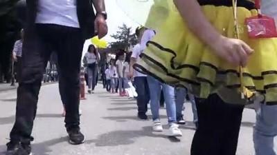 farkindalik - Minik arıcılar farkındalık için yürüdü - DÜZCE