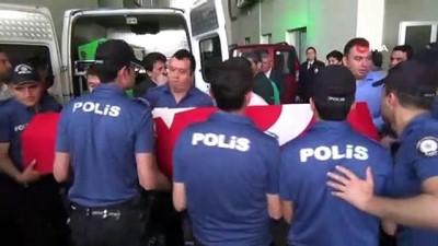 Kazada hayatını kaybeden 2 polis memurunun cenazesi memleketlerine gönderildi