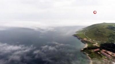 Sinop'ta yoğun sis havadan görüntülendi