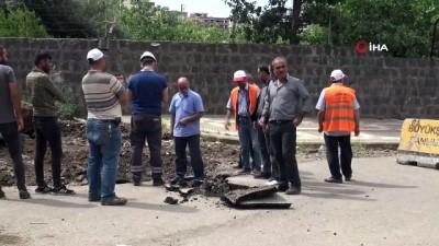 alabalik -  Siverek'te kepçenin patlattığı doğal gaz borusu paniği neden oldu