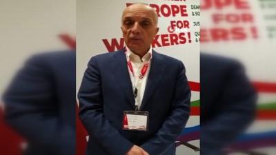 TÜRK-İŞ Genel Başkanı Ergün Atalay, ETUC Genel Kurulu'na katıldı