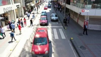 Zonguldak'ta drone destekli trafik denetimi