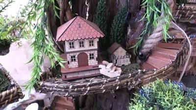 Ağaç kökleri maket evlerde hayat buluyor - ZONGULDAK