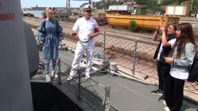 Askeri gemi ziyarete açıldı - ZONGULDAK