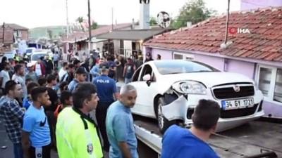 Eşine kurşun yağdıran şahsa operasyon düzenleyen polislere otomobil çarptı