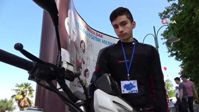 festival -  Geçirdiği motosiklet kazası hayatını değiştirdi...Geliştirdiği proje ile derece aldı