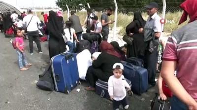 Öncüpınar Sınır Kapısı'nda Suriyelilerin 'vatan özlemi' yoğunluğu