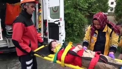 3 metre yükseklikten dereye düşen çocuğu itfaiye kurtardı