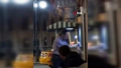 kisla - İstanbul'da ATM makinesini döven adam kamerada