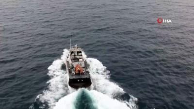 Karadeniz Suat'ı vermiyor...Kayıp balıkçıyı arama çalışmaları havadan görüntülendi