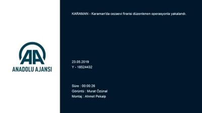 akalan - Karaman'da cezaevi firarisi yakalandı