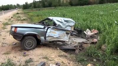 Konya'da beton mikseri ile otomobil çarpıştı: 1 ölü, 1 yaralı