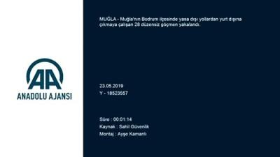 akalan - Muğla'da 28 düzensiz göçmen yakalandı