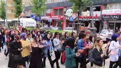 Öğretmenin darbedilmesi protesto edildi - ÇANKIRI
