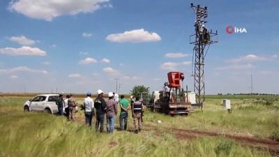 Şanlıurfa'da havadan tespit edilen kaçak elektrik trafolarına el konuldu
