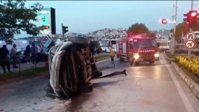 Zonguldak'ta kontrolden çıkan cip takla attı: 1 yaralı