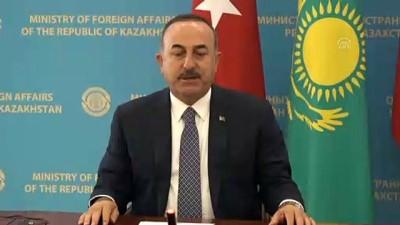 baskent - Atamkulov-Çavuşoğlu ortak basın toplantısı - Çavuşoğlu (2) - NUR SULTAN