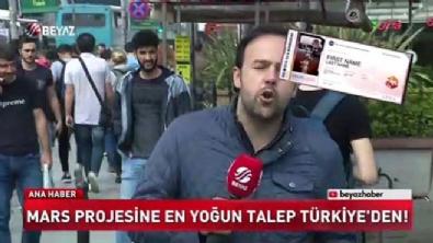 Mars projesine en yoğun talep Türkiye'den