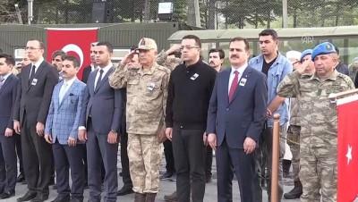 Şehit asker için tören - HAKKARİ