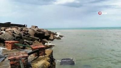 Yağmur sonrası Karadeniz çamura büründü