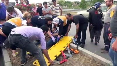 Motosiklete çarpmamak için refüje çarpıp 50 metre takla attı: 4 yaralı