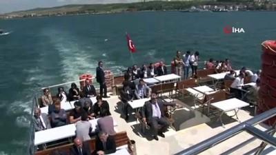 Ulaştırma ve Altyapı Bakanı Cahit Turhan '1915 Çanakkale Köprüsü-Anadolu Yakası Keson İndirme Töreni'ne katıldı
