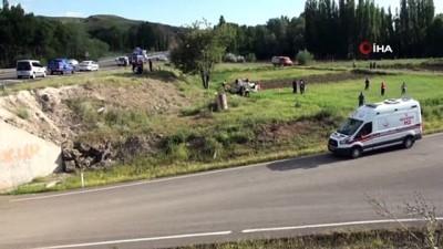 112 acil servis -  Kontrolden çıkan otomobil şarampole yuvarlandı: 1 ölü, 2 yaralı