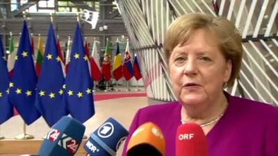 iklim degisikligi - AB Liderler Zirvesi - Merkel / Macron - BRÜKSEL
