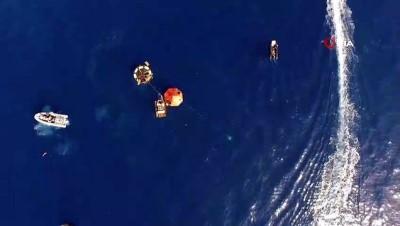 kurtarma tatbikati -  Denizaltından tahliye ve kurtarma tatbikatı havadan görüntülendi
