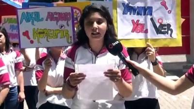 Diyarbakırlı öğrenciler 'trafikte önce yaya' dedi