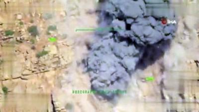 MSB: 'Irak kuzeyi Metina bölgesine düzenlenen hava harekâtı neticesinde PKK bölücü terör örgütü tarafından silah mevzii, barınak, sığınak ve mühimmat deposu olarak kullanılan hedefler imha edildi'