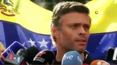 - Muhalif Lider Lopez Saklandığı Elçilikten Maduro'ya Meydan Okudu